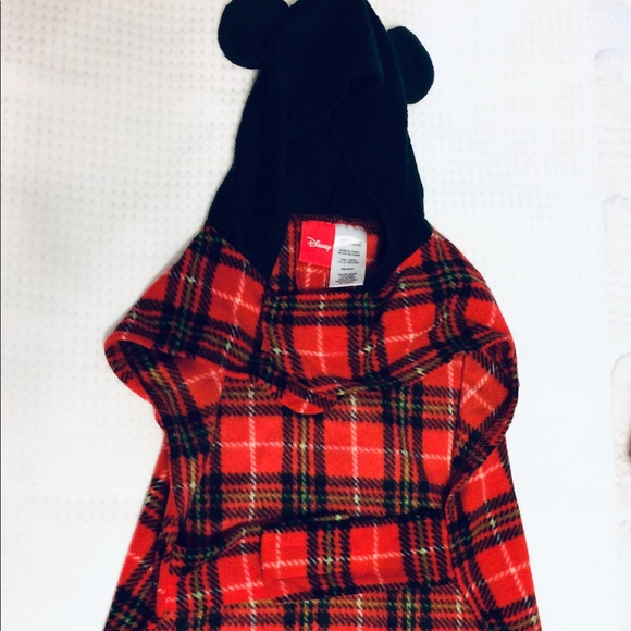 Disney Other - Doggy Disney/Mickey Mouse plaid Red Mickey outfit